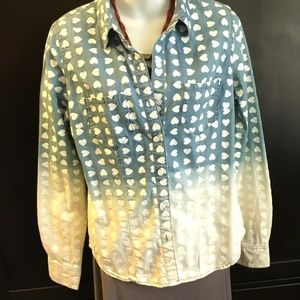 Mossimo Shirt long Sleeve Blue And White Size M/M